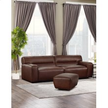 SU-AX6816-SO  Leather 2 Piece Living Room Set  Sofa with Ottoman  Brown