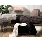 Arden Tibetan Fur and Acrylic Bench Product Image