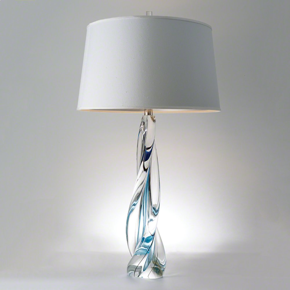 Ocean Twist Lamp w/Silk Shade