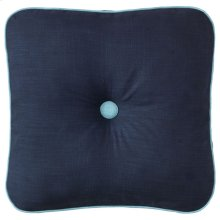 Spencer Pillow, NAVY, 18X18