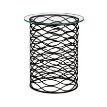 Interlaced Bronze & Glass Side Table