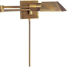 Visual Comfort 82034HAB Studio 24 inch 40 watt Hand-Rubbed Antique Brass Swing-Arm Wall Light