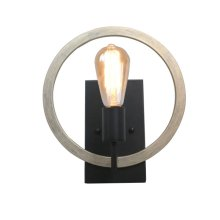 Industrial Sconce in Oil Rubbed Bronze with Distre