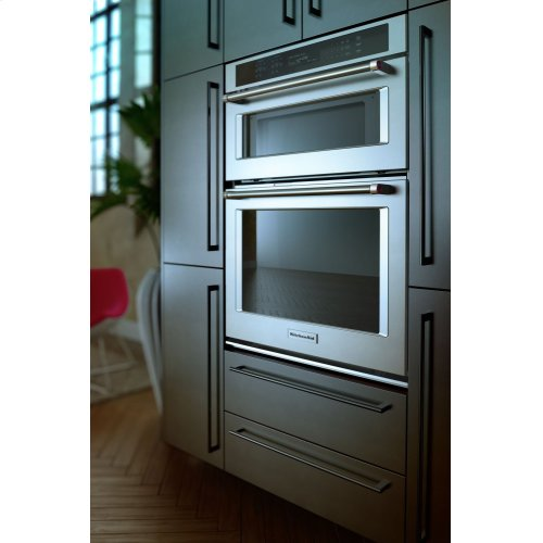 """30"""" Combination Wall Oven with Even-Heat™ True Convection (Lower Oven) - Stainless Steel"""