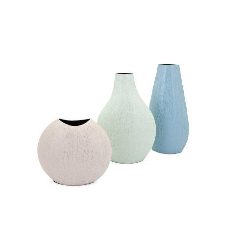 Padma Blue Enamel Finish Vase