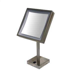 Square Freestanding Led 5X Magnified Mirror Product Image