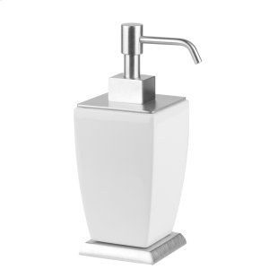 SPECIAL ORDER Freestanding liquid soap dispenser in ceramic Product Image