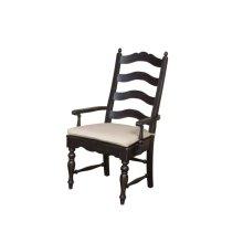 Ladderback Arm Chair Black