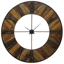Metal & Wood Wall Clock  47in X 47in