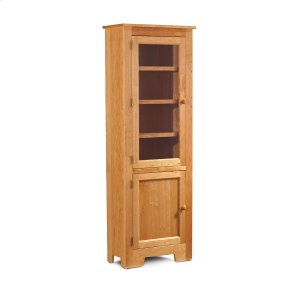 """Shaker Narrow Bookcase, Glass Doors on Top and Wood Doors on Bottom, Shaker Narrow Bookcase, Glass Doors on Top and Wood Doors on Bottom, 3-Adjustable Shelves, 25 1/2""""w"""