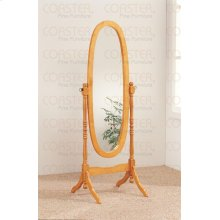 "MIRROR/FLOOR BEVELED CHE VAL WOOD OAK/F 59""H """