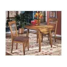Round DRM Drop Leaf Table with 2 Chairs