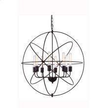 """1453 Vienna Collection Chandelier D:32"""" H:33"""" Lt:8 Dark Bronze Finish"""