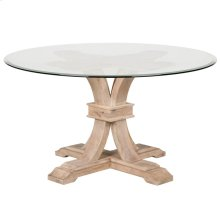"Devon 54"" Round Glass Dining Table"