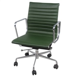 Langley PU Low Back Office Chair, Vintage Asparagus