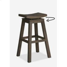 (LS) Cordova Barstool with Coconut Tile Top (17x17x30)