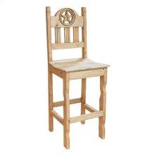 Barstool Open Star Wood Seat