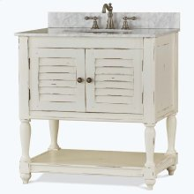 Cottage Guest Vanity with sink and marble top