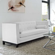 Imperial Bonded Leather Sofa in White