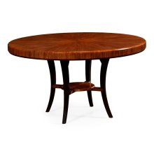 "54"" Art Deco Satin Round Dining Table"