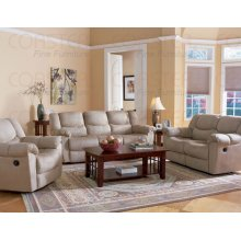 "PADDDED MOTION SOFA 83""X41-1/2""X38""H,BEIGE"
