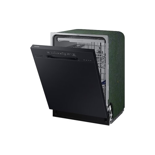 Front Control Dishwasher with Hybrid Interior in Black