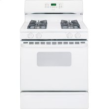 "Hotpoint® 30"" Free-Standing Gas Range (This is a Stock Photo, actual unit (s) appearance may contain cosmetic blemishes. Please call store if you would like actual pictures). This unit carries our 6 month warranty, MANUFACTURER WARRANTY and REBATE NOT VALID with this item. ISI 34548"
