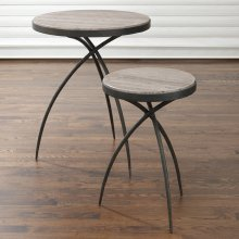 Tripod Table w/Grey Marble Top-Lg