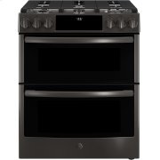 """GE Profile™ 30"""" Slide-In Front-Control Gas Double Oven Convection Range Product Image"""