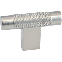 "2"" T-knob with diamond knurl and rectangular post"