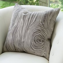 Faux Bois Pillow-Grey