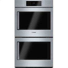 "Benchmark Series, 30"", Double Wall Oven, SS, EU conv./EU conv., TFT Touch Control, Right Swing"