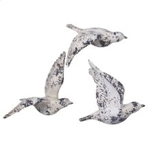 Rustic Seagull Wall Decor - Set of 3