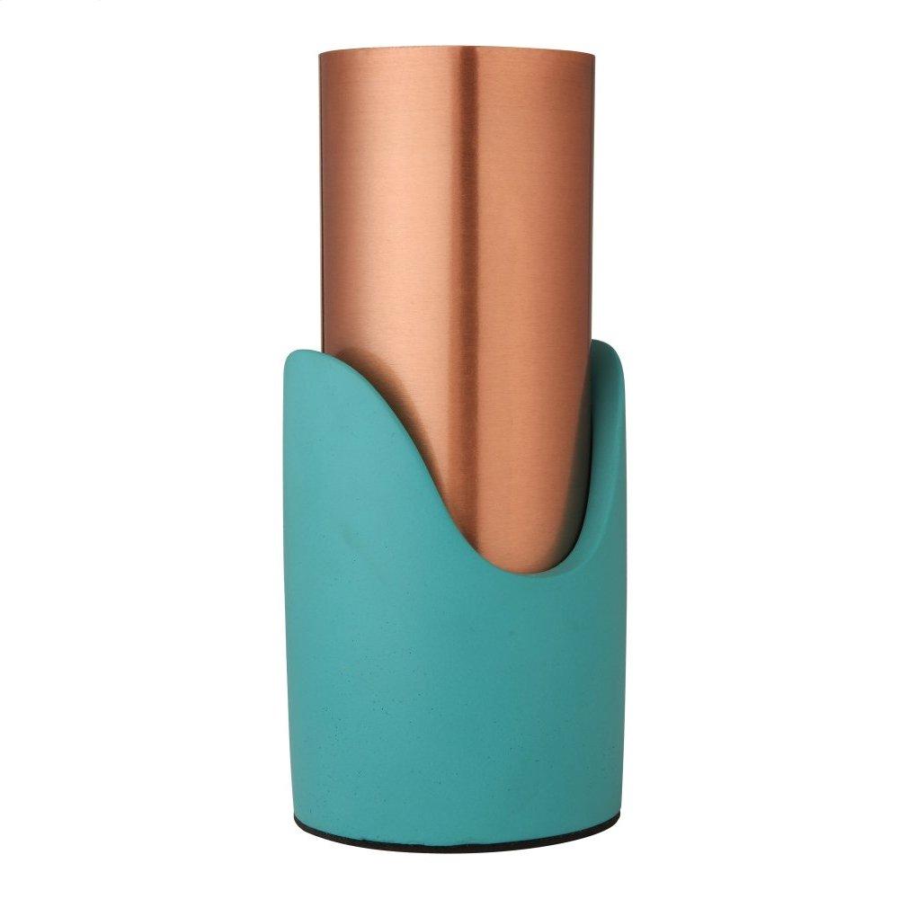 Blue Concrete Vase