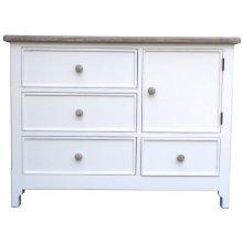 Chesapeake Single Dresser - Wht/rw