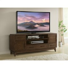 Vogue - 74-inch TV Console - Plymouth Brown Oak Finish