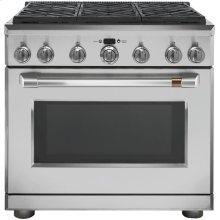"Café 36"" Dual-Fuel Professional Range with 6 Burners (Natural Gas)"