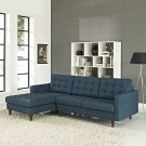 Empress Left-Facing Upholstered Fabric Sectional Sofa in Azure Product Image