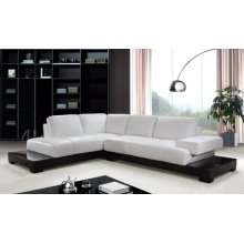 Divani Casa 0507A Modern White Leather Sectional Sofa