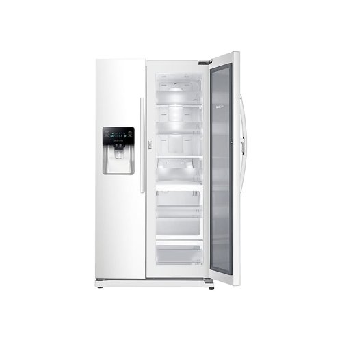 25 cu. ft. Food Showcase Side-by-Side Refrigerator with Metal Cooling in White
