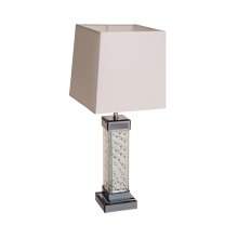 Montreal Table Lamp w/Crstl Accnts Rect Shade, Wht - Pack/2