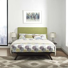 Tracy 3 Piece Queen Bedroom Set in Cappuccino Green