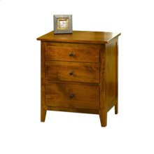 Jamestown Square 3-Drawer Nightstand