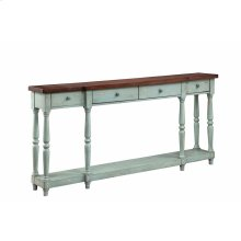 Simpson 4-drawer Console In Blue