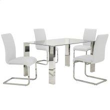 Frankfurt/Maxim 5pc Dining Set, White