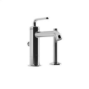 2-piece Tall Bathroom Sink Faucet With Hand Shower - Chrome Product Image