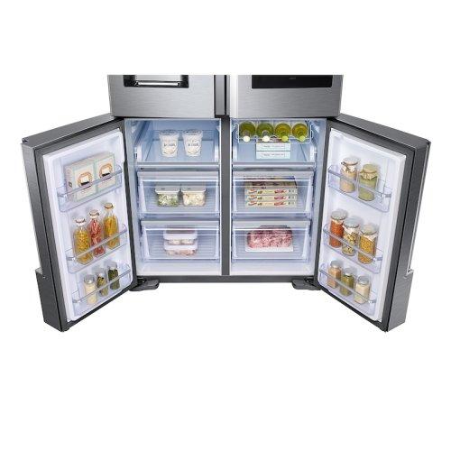 22 cu. ft. Family Hub Counter Depth 4-Door Flex Refrigerator in Stainless Steel