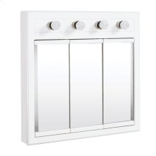 "Concord Lighted Medicine Cabinet Mirror 30"", White #532382"