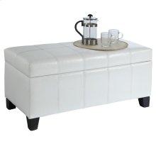 Bella Rectangular Storage Ottoman in White