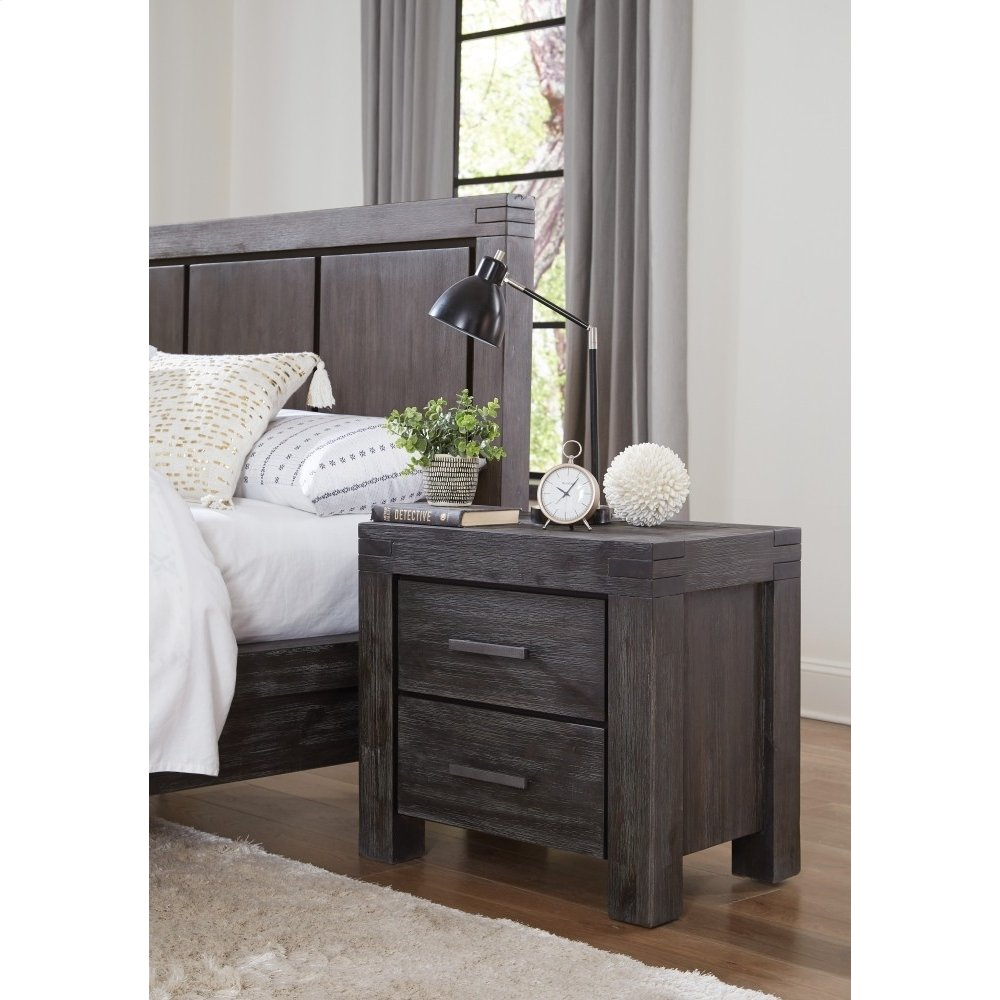 Meadow Nightstand with Graphite Finish